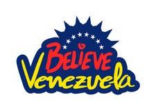 Credi il messaggio del Venezuela Fotografia Stock Libera da Diritti