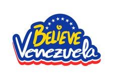 Credi il messaggio del Venezuela Immagini Stock Libere da Diritti