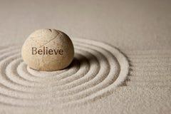 Credi la pietra Immagini Stock Libere da Diritti