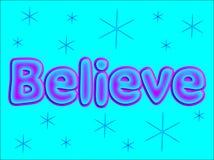 Credi le lettere di parola Fotografia Stock Libera da Diritti
