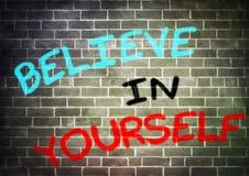Credi in voi stesso Fotografia Stock Libera da Diritti