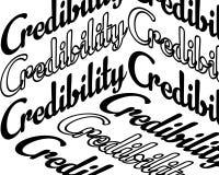 Credibility inscription royalty free illustration