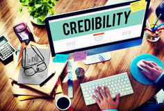 Credibility Partnership Determination Inspiration Concept stock photo