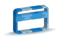 Credit acrd icon in puzzle Royalty Free Stock Images