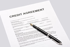 Credit agreement Stock Photos