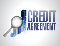 Credit agreement business sign illustration design Royalty Free Stock Photography