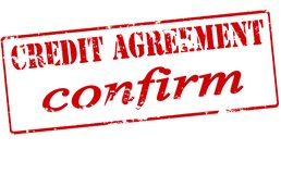 Credit agreement confirm. Rubber stamp with text credit agreement confirm inside,  illustration Royalty Free Stock Photography