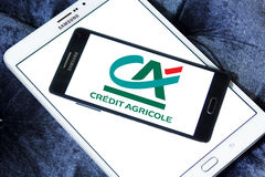 Credit agricole bank logo Royalty Free Stock Images