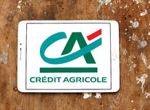 Credit agricole bank logo Stock Photography