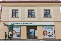 Credit Agricole bank in Rzeszow, Poland. Royalty Free Stock Image