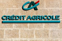 Credit Agricole logo on a wall Royalty Free Stock Photography