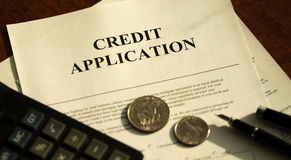 Credit application Royalty Free Stock Photography