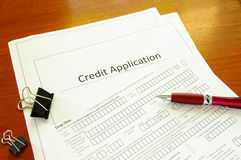 Credit application Royalty Free Stock Image