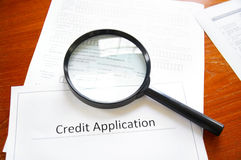 Credit application Stock Photography
