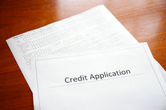 Credit application Stock Photos