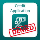 Credit application denied Royalty Free Stock Photo