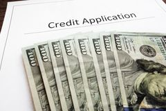 Credit Application Stock Image