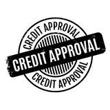 Credit Approval rubber stamp Royalty Free Stock Images