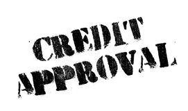 Credit Approval rubber stamp Stock Images
