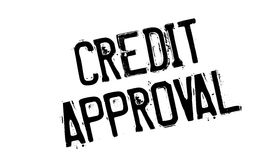 Credit Approval rubber stamp Stock Image