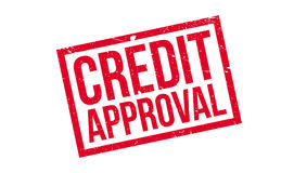 Credit Approval rubber stamp Royalty Free Stock Photography