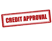 Credit approval Stock Image
