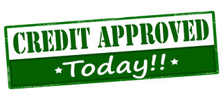 Credit approved today Stock Photos
