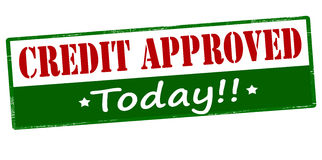 Credit approved today Royalty Free Stock Photography