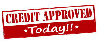Credit approved today Stock Photo