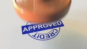 CREDIT APPROVED wooden stamp. 3D rendering. CREDIT APPROVED wooden stamp 3D rendering Stock Image
