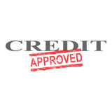 Credit Approved Word Stamp. Credit word with approved stamped across it Stock Image