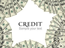 Credit background concept and place for the text Royalty Free Stock Images