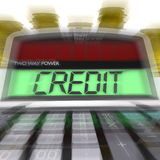 Credit Calculated Means Loan Money And Financing Royalty Free Stock Photography