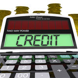 Credit Calculator Means Loan Money And Financing Royalty Free Stock Photography