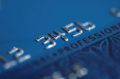 Credit Card. Numbers Stock Photography