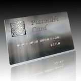 Credit card. An illustration of a credit Platinum Card Royalty Free Stock Photography