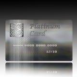Credit card. An illustration of a credit Platinum Card Stock Photos
