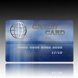 Credit card. An illustration of a blue credit Card Royalty Free Stock Photography