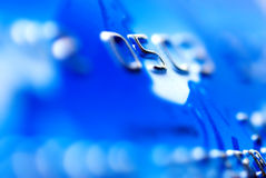 Credit card. Close-up of a blue credit card Stock Images