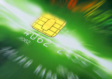Credit Card. Green credit card in the background Royalty Free Stock Image