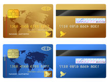 Credit card. The back and front view of credit card Stock Images