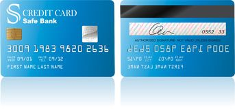 Credit Card. Vector illustration of credit card isolated on white background Stock Images