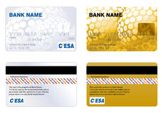 Credit Card. Professional design and Highly detailed credit card Royalty Free Stock Images