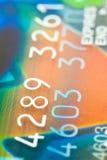 Credit Card. Close to colour full credit card Stock Photos