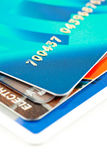 Credit card. Close to few credit cards Royalty Free Stock Photography