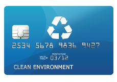 Credit card. With an environmental text Stock Photos