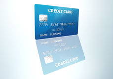 Credit card. Illustrated credit card with reflection effect Royalty Free Stock Photography