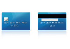 Credit card. Illustrated credit card with reflection effect Stock Photos
