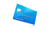 Credit card. Illustrated credit card with reflection effect Stock Images