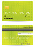 Credit card. Front and back view Stock Photo